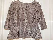 Lovely Ladies Autumn Colour Peplum Top Blouse Size 12 14