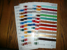 1977 Commercial Truck Colors Sherwin-Williams Color Chip Paint Sample
