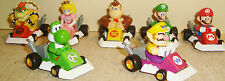 SET MINT 2005 Nintendo Super Mario Kart DS 4 Pull Backs Bowser Luigi Peach Yujin