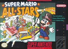 Super Nintendo SNES Super Mario All-Stars Video Game Cartridge *Cosmetic Wear*