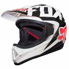 FOX RACING DOT APPROVED MOTOCROSS OFFROAD VF1 HELMET  - SMALL- WHITE