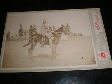 Old cabinet photograph soldier on horse by Whyte Glasgow c1900s
