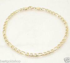 "10"" Solid Gucci Mariner Link Chain Ankle Bracelet Anklet Real 14K Yellow Gold"
