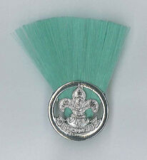 SCOUTS OF MONGOLIA - SCOUT LEADER (GREEN COLOUR) Metal Plume / Hat Patch