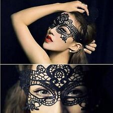 Black Sexy Lace Eye Mask Face Masquerade Venetian Halloween  Costume Ball Party