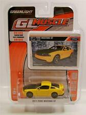 2011 '11 2012 2013 2014 FORD MUSTANG GT YELLOW DIECAST GL MUSCLE R10 GREENLIGHT
