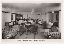 RMS Queen Elizabeth, Tourist Lounge, Shipping RP Postcard, B584