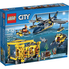 LEGO City Deep Sea Operation Base 60096 Building Set 907 Piece Plane Submarine