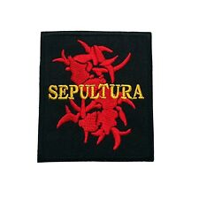 2.6x2.9in SEPULTURA PATCHES SEWING OR IRON ON FREE SHIPPING