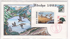 FDC COLLINS HANDPAINTED COVER 1992 IDAHO DUCK ID-6 $6 MILFORD SERIES