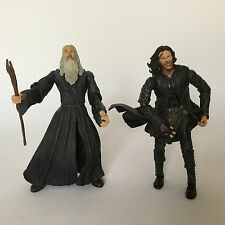 Toybiz Lord Of The Rings Fellowship Action Figure Gandalf Aragorn
