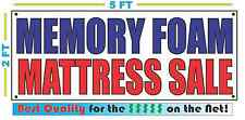 MEMORY FOAM MATTRESS  SALE Banner Sign NEW Larger Size Best Quality for the $$$