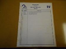 1975 - 1976 SUZUKI RV90 RV125 Factory Service Bulletins