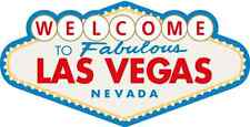 "Welcome To Las Vegas Bumper Sticker 5"" x 3"""