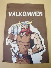 Scandinavian Swedish Valkommen Viking Decorative Garden Flag #237