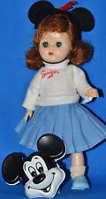 "Vintage Big Eye 8"" Ginger Doll in Official Mickey Mouse Club Outfit Ginny Friend"