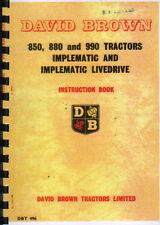 David Brown 850, 880 and 990 Implematic Tractor Instruction Manual