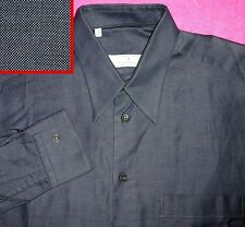 NEW M 40 15 1/2 ERMENEGILDO ZEGNA SLATE GREY/BLUE SOLID MENS SHIRT