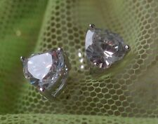 2x 0.5ct 4mm heart DIAM0NDS studs