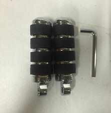ISO FOOTPEGS Harley Softail Sportster Dyna FXR Chrome Rubber Pegs Male Mount