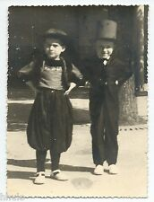 C528 Photo vintage originale enfant déguisement costume chapeau
