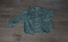 Supreme Olive Camo Chip Field Button Shirt FW12 Large