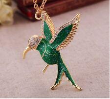 N384 A BETSEY JOHNSON Hummingbird Swallows Peace Pigeon Bird Heart Necklace US