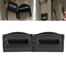 2pcs Car Seat Belts Clips Safety Adjustable Stopper Buckle Plastic Clip Black