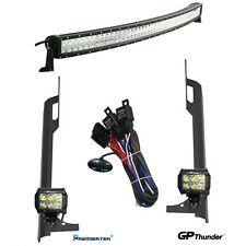 52in+4in LED Light Bars+ Mounting Brackets +Relay Harness Jeep TJ Wrangler 97~06