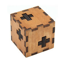 Wooden Box Burr Puzzle Brain Teaser Puzzles Game Toy IQ Educational Puzzles