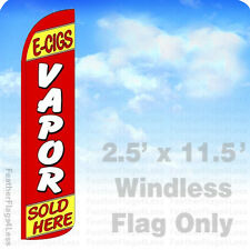 2.5x11.5 WINDLESS Swooper Feather Flag Banner Sign - E-CIGS VAPOR SOLD HERE rz