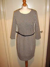 F&F MONOCHROME JACQUARD PONTE  BLACK/WHITE DRESS -  Size 8 *BNWT* *RRP £22.00*