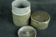 """Superb Antique chinese pewter tea caddy, marked 4"""", minor issues [Y8-W6-A9-E9]"""