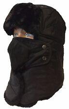 Winter Deluxe Trooper TRAPPER Ski Faux Fur Waterproof Full Face Mask Hat cap
