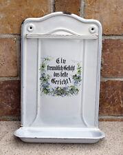 Emaille Küchenhelferboard - Emaille Löffel Board - Email Board ~ 1900   (# 3131)