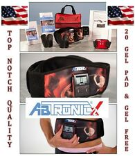 ABTRONIC X2 MUSCLE SLIMMING TONING BELT MASSAGER,With 20 GELL PADS &Gell BOTTLE