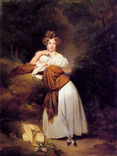 Oil painting sophie guillemette, grand duchess of baden young lady in landscape