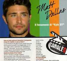 Ga3 Clipping-Ritaglio 2010 Matt Dallas ...il fenomeno di Kyle XY