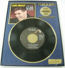 Elvis Presley -It's Now or Never -Framed 45 RPM Collector's LMT Series #12 of 90