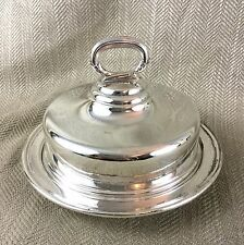 Antique Silver Plate Food Dome Cloche & Tray Old Sheffield Georgian H Wilkinson
