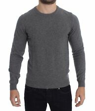 NWT $400 COSTUME NATIONAL HOMME Gray Wool Crewneck Pullover Sweater s. IT52 / L