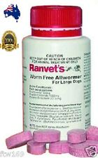 RANVETS DOG ALLWORMER INTESTINAL WORMS  3X TABLETS 25KG & OVER DOG PUPPY KENNEL
