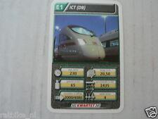 22 SUPER TRAIN E1 ICT DB TREIN KWARTET KAART, QUARTETT CARD