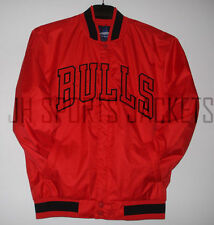 Size 2XLG NBA Chicago  Bulls Polyester Jacket Red JH Design  New XXL
