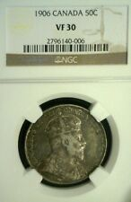 1906 CANADA SILVER FIFTY CENTS NGC VF30        (1514NAM)