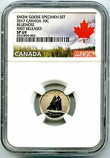 2017 CANADA 10 CENT NGC SP69 FIRST RELEASES FROSTED BLUENOSE DIME RARE !!