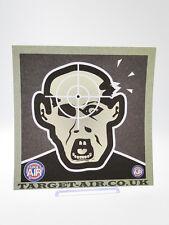 10 Bersagli in cartoncino Target Zombie Nero lato 14 cm quadrati softair tiro al
