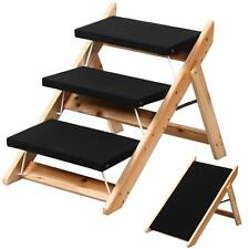 Pet Stairs Steps Dog Ramp Cat Step Portable Animal Wood Ladder Folding Home Easy