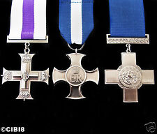 BEAUTIFUL GEORGE CROSS MILITARY MEDAL SET OF 3 FOR GALLANTRY & HEROISM REPLICA