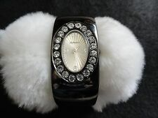 Style and Co.  Ladies Quartz Watch with a Black Metal Band